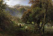 summer landscape at the alban see