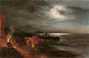 the bay of naples by moonlight
