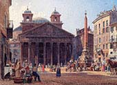 The Pantheon and the Piazza della Rotonda in Rome