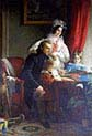 Count August Ferdinand Breuner Enckevoirt with wife Maria Theresia Esterhazy and Children