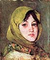 Peasant Woman with Green Kerchief