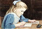 Girls with their Homework