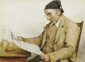 grandfather with newspaper