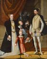 holy roman emperor maximilian two of austria and his wife infanta maria of spain with their children