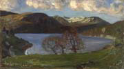 spring evening at jølstervannet by Nikolai Astrup