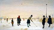 Golf Players on the Ice