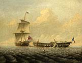 Action Between HMS -Blanche and the Pique