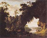 landscape with rocky arch