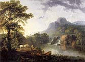 Lake Landscape with Travellers