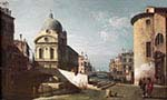 Venetian Capriccio with View of Santa Maria dei Miracoli