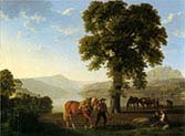 A Farmer Ploughing by Lake Lucerne