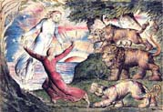dante running from three beasts is rescued by virgil