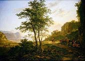 Italianate Landscape with Travellers