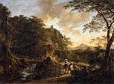Landscape with a Peasant Woman on a Mule