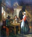 chess players in an inn
