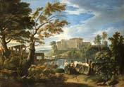 landscape with the belvedere courtyard of the vatican