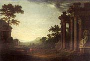 An Ideal Landscape with Classical Ruins]
