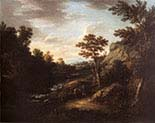 A Landscape with Peasants and a Dog