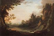 An Ideal Landscape with Figures and Ruins