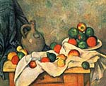 Still Life Drapery Pitcher and Fruit Bowl