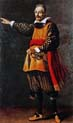 portrait of francesco andreini in the costume of capitano spavento