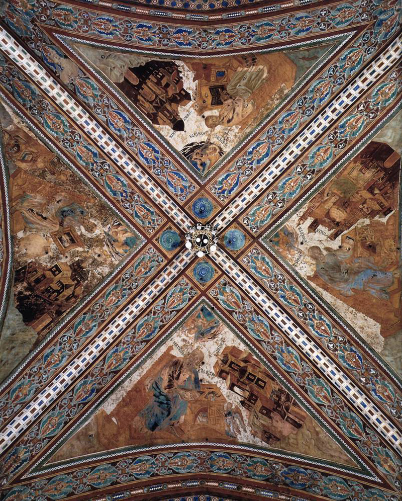 example of frescoes by Giovanni Cimabue