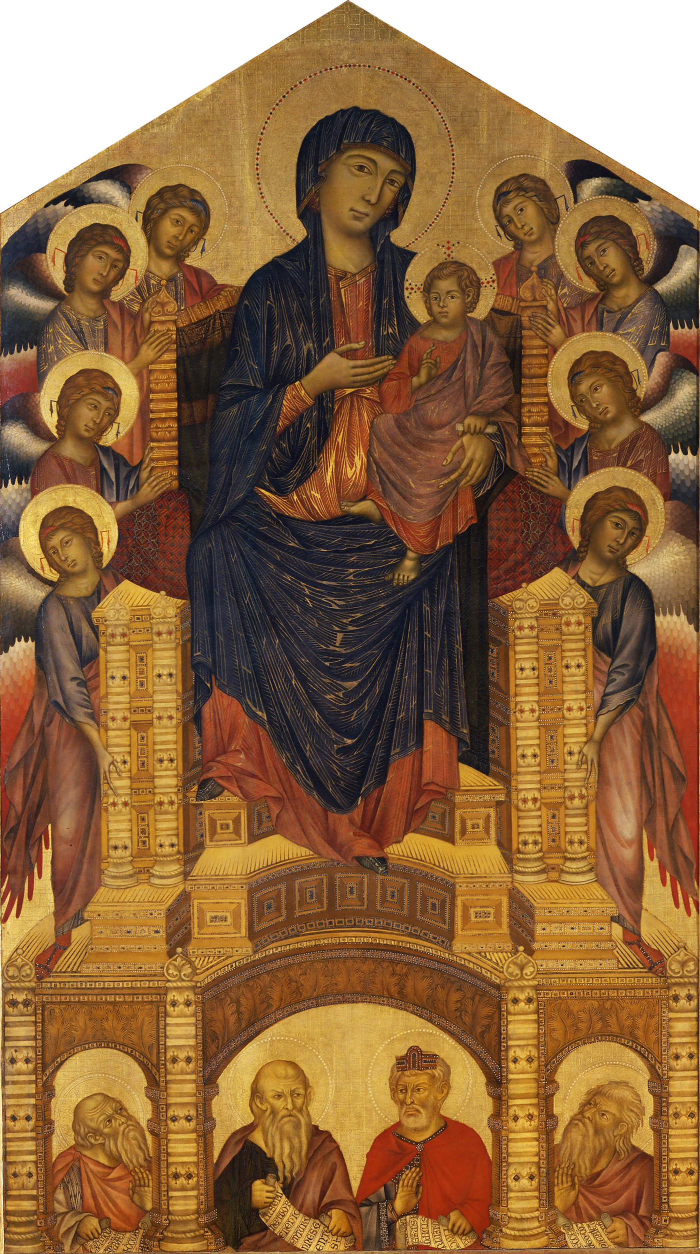 madonna enthroned with angels and prophets