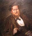 portrait of the painter fritz rumpf
