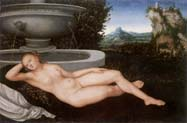 reclining water nymph