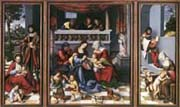 triptych with the holy kinship