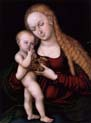 virgin and child with grapes