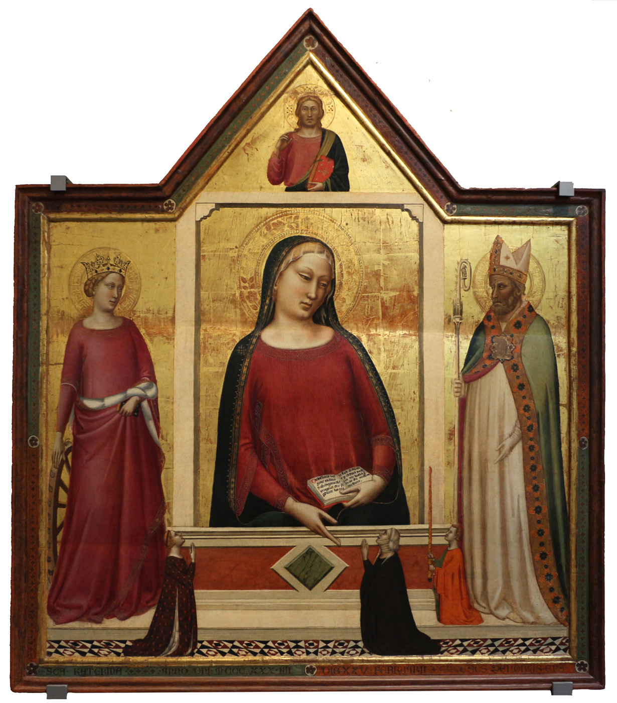 madonna with saint catherine and saint zanobi with donors