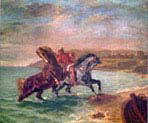 Horses Emerging from the Sea
