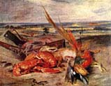 Still Life with Lobster and Trophies of Hunting and Fishing