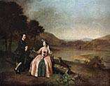 Sir George and Lady Strickland in the Park of Boynton Hall