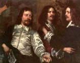 the artist with sir charles cottrell and sir balthasar gerbier by William Dobson