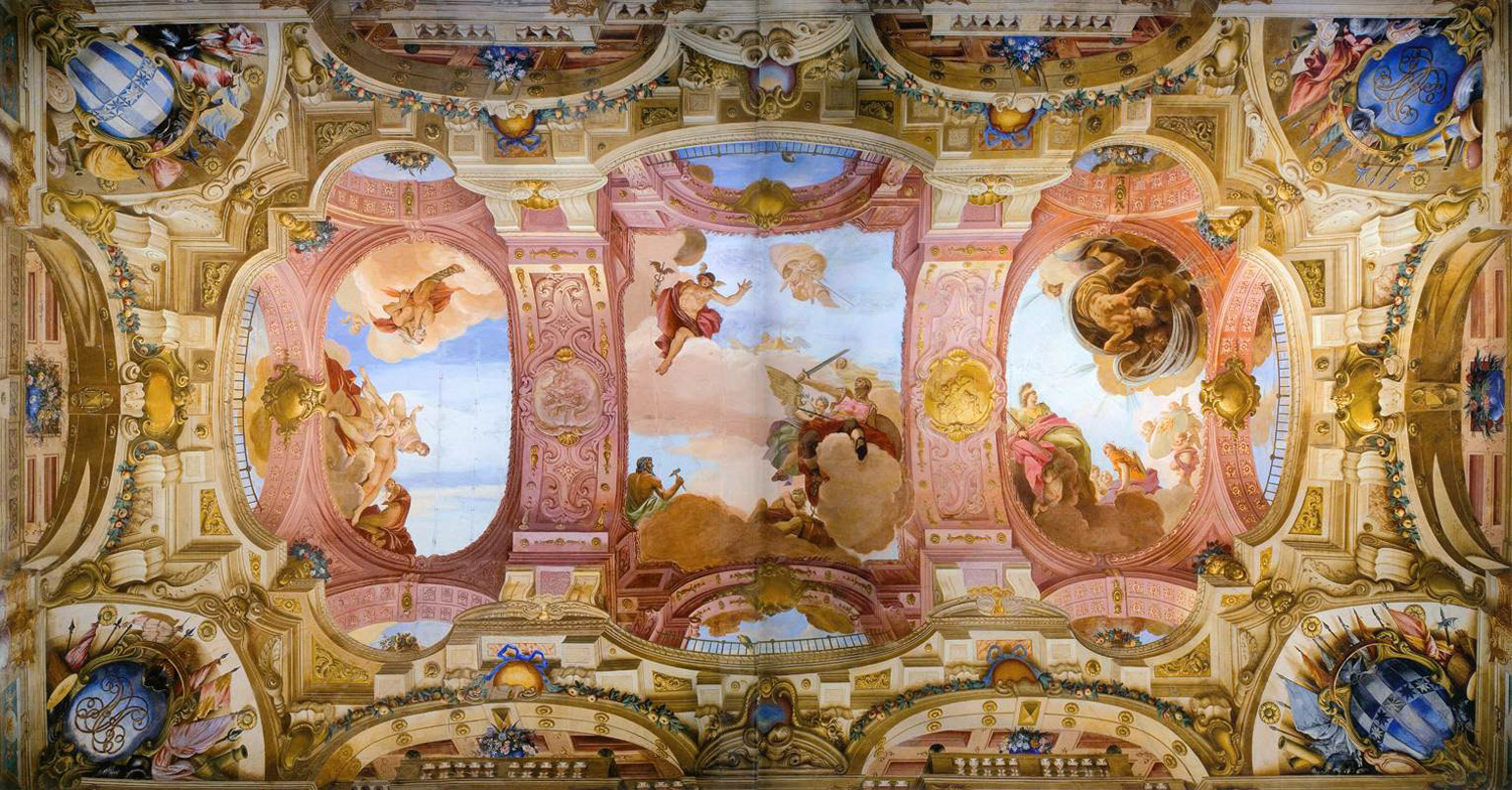 villa allegri ceiling decoration
