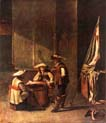 guardroom with soldiers playing cards by Jacob Duck