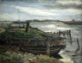 cloudy coastal landscape with fishers
