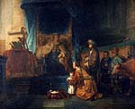 Hannah Presenting his son Samuel to the Priest Eli