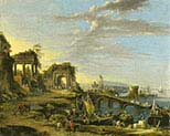 Coastal Landscape with Ancient Ruins