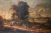 Landscape with Travellers and Huntsmen on a Track with a Lake Beyond
