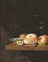 Still Life with Bread Roll and Fruit