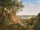 view from nussdorf to the danube by Thomas Ender