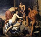 Nymphs Offering Young Bacchus Wine and Fruit