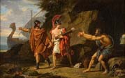 ulysses and neoptolemus taking hercules arrows from philoctetes