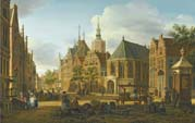 one of a pair of cityscapes of the hague