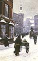 A Street Scene In Winter