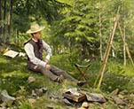 The Artist Painting En Plein Air