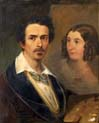self-portrait with the artist s wife